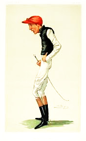 Fred Archer caricature in Vanity Fair